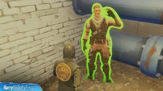 Find Jonesy Hidden Behind a Fence Location - Fortnite (Downtown Drop Challenge)