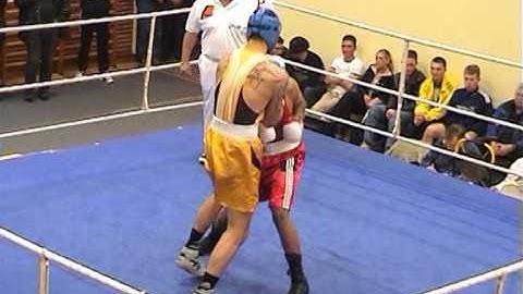 German Amateur Box Fight - First Round KO