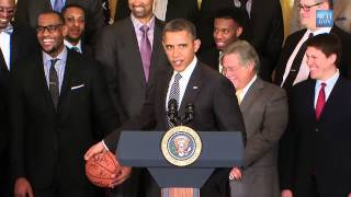 2012 NBA Champions the Miami Heat Visit the White House (2013)