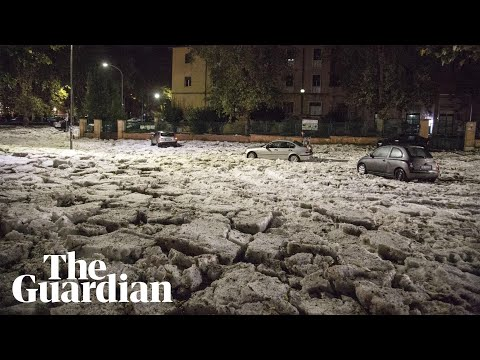 Severe thunderstorm covers Rome in hail and floods