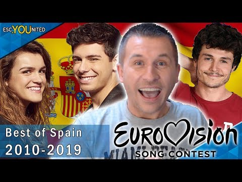 Spain in Eurovision: My Top 10 | With Reaction (2010 - 2019)