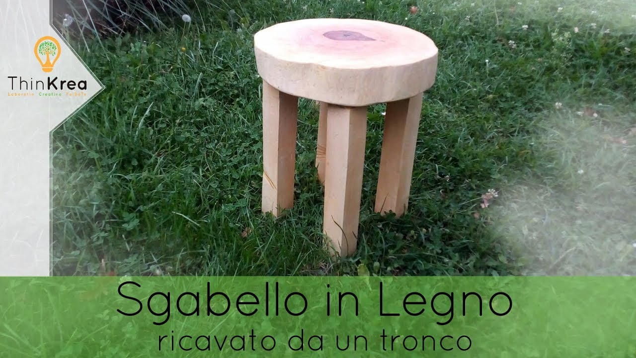 Sgabello in legno massello da tronco fai da te youtube