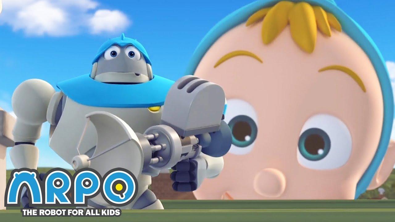 GIANT Baby Daniel! - ARPO the Robot | 에피소드를보고 | Cartoons for Kids | Robot Animation