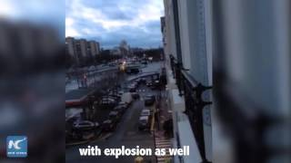 Shocking moment of earlier Paris attack: cellphone video filmed by Chinese