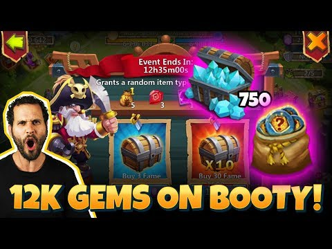JT's F2P 12000 Gems For Pirates Booty CLUTCH Ending Castle Clash