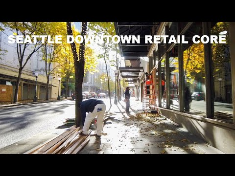 Seattle Downtown Retail Core Days Before Election Day 2020 | Walking Tour Seattle
