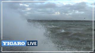 🔴Tempête Aurore: des vents jusqu'à 130 km/h relevés dans le Finistère #Météo💨