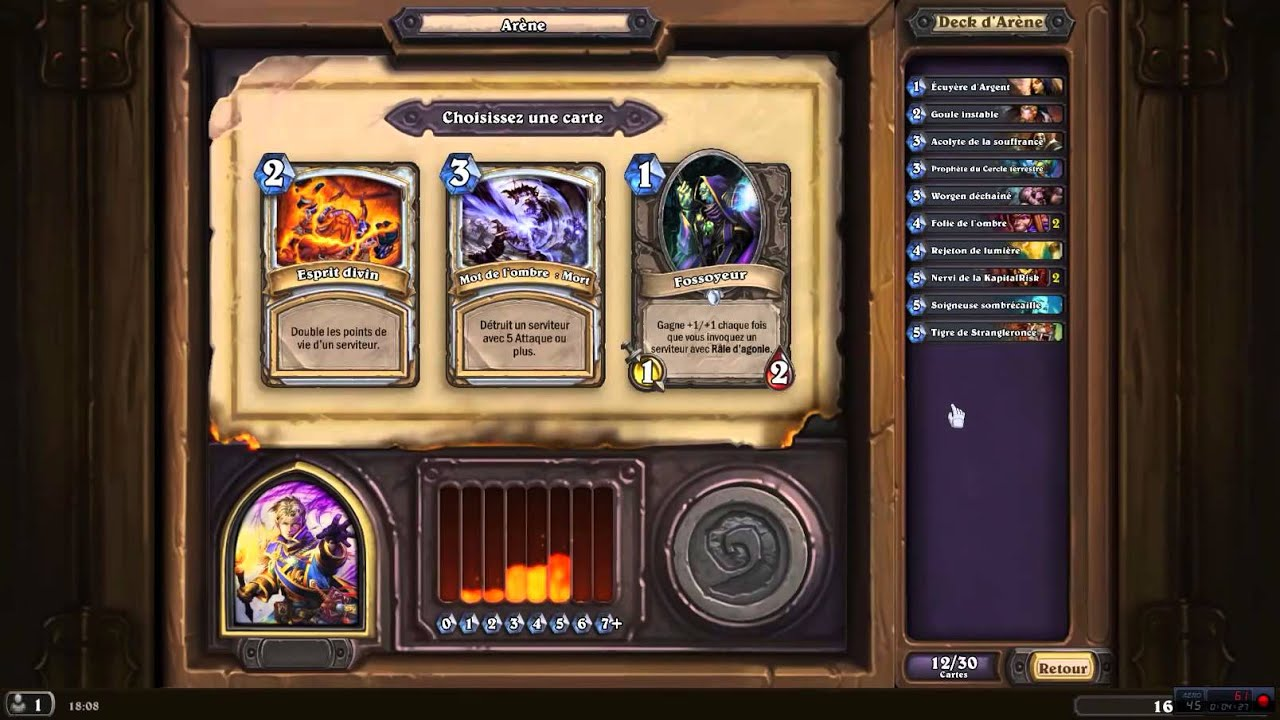 Ar ne pretre le deck 6 hearthstone avec hugo youtube for Deck arene 6 miroir