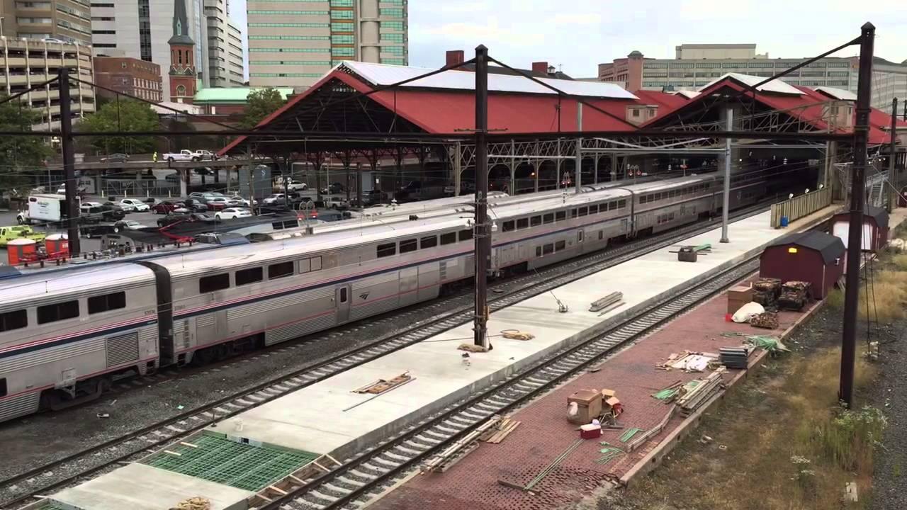 Amtrak passenger train in harrisburg pa 92115 youtube sciox Images