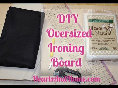 DIY Oversized Ironing Board - YouTube : quilting ironing board cover - Adamdwight.com