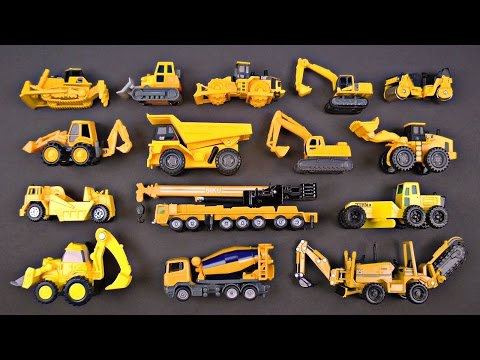 Construction Vehicles for Kids #1 Best Bulldozers Dump Trucks Loaders Diggers Cranes for Children