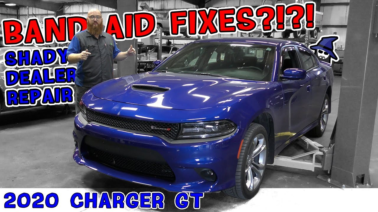 Dealer does very questionable repairs on 2020 Charger GT! CAR WIZARD discovers it & fixes it right