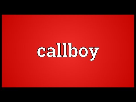 Callboy Meaning - YouTube
