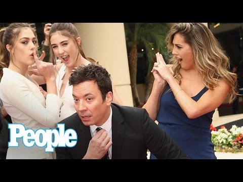 Thumbnail: Jimmy Fallon & Sylvester Stallone's Daughters Tease 2017 Golden Globes | People NOW | People