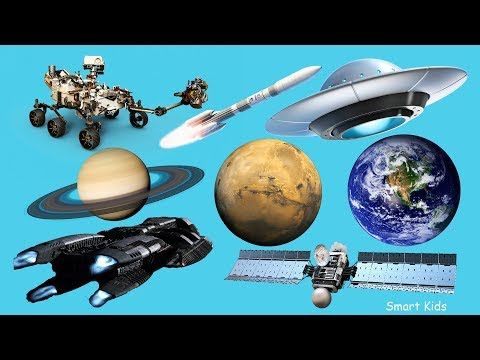 Learn Transport for Kids | Learn Names and Sounds of  SPACE Transport | Learn Transport in English