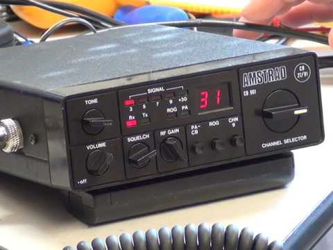 Amstrad CB901 (made in Japan version) UK (CB27/81) CB radio (mobile) -   On The Air test