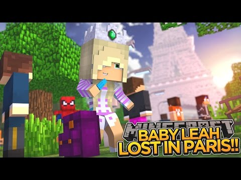Minecraft - Donut the Dog Adventures -BABY LEAH IS LOST IN PARIS!!!!