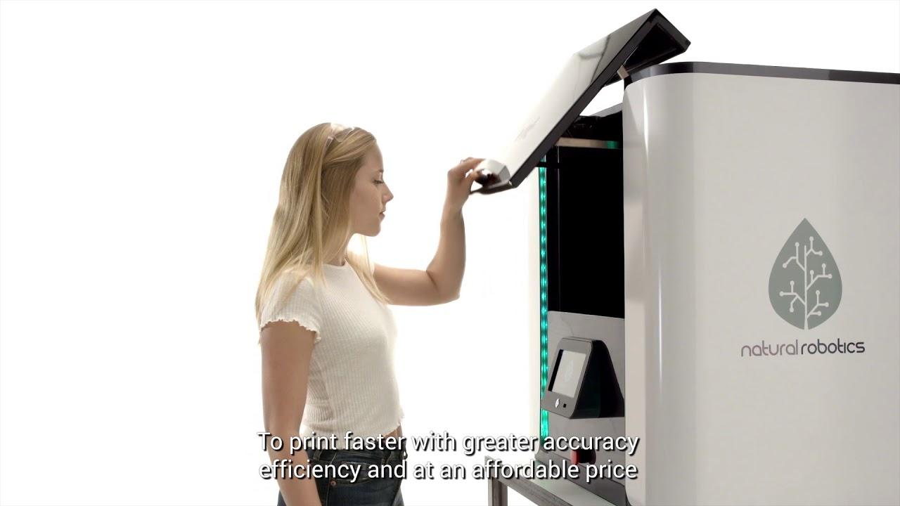 video Natural Robotics VIT SLS 3D Printer