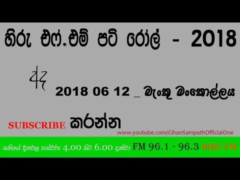 Hiru FM : Pati Roll — 2018 06 12 - Banku Mankollaya - බැංකු මංකොල්ලය