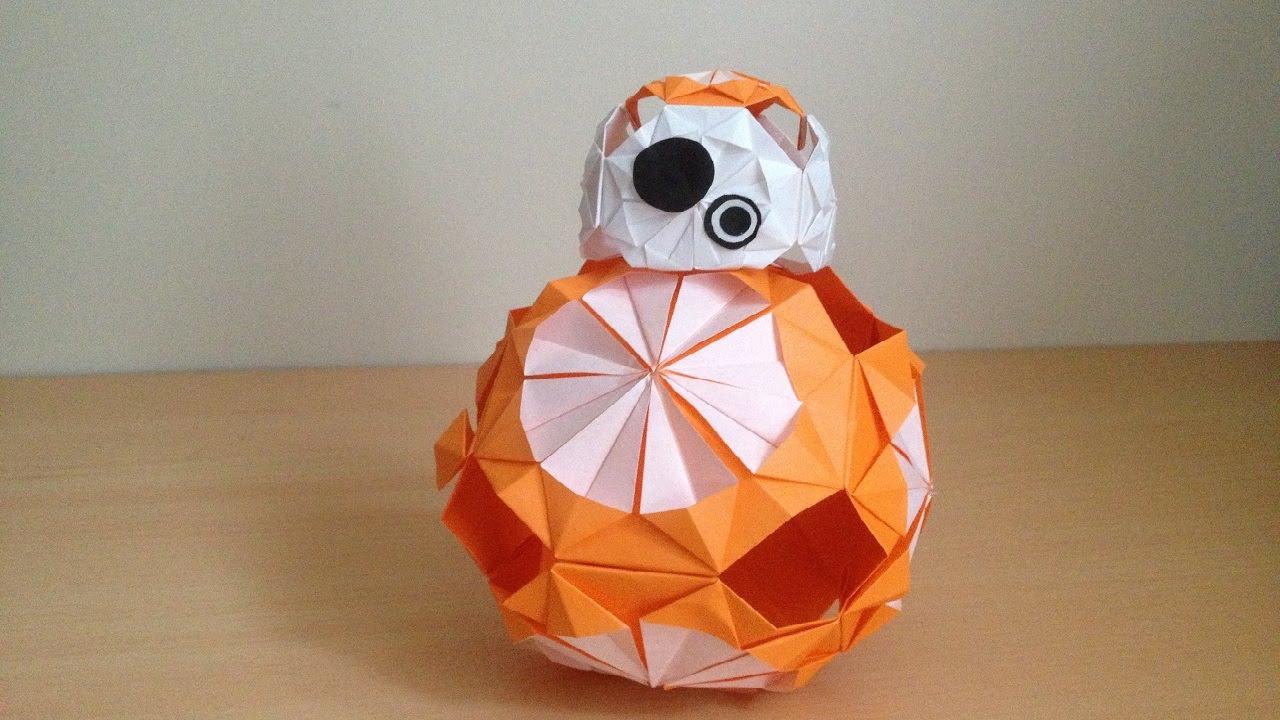 すべての折り紙 3d 折り紙 折り方 : Origami Star Wars BB-8 3D 折り紙の ...