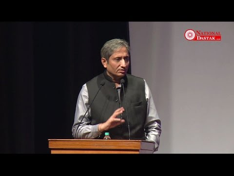 Ravish Kumar News Anchor Speech On National Dastak Launching