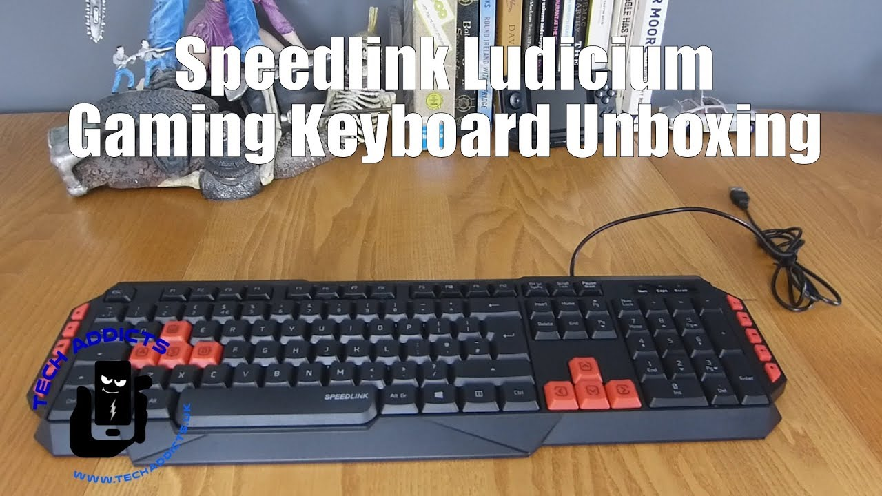 Black R SPEEDLINK RAPAX Keyboard with Red LED Illumination for PC Gaming