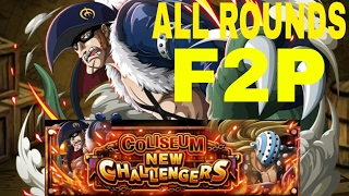 [OPTC Global] Drake Coliseum - All Rounds F2P