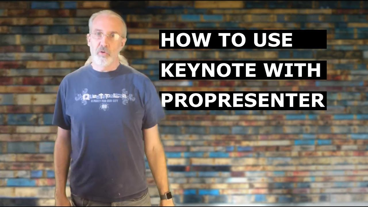 How to import Keynote Presentations into ProPresenter 6