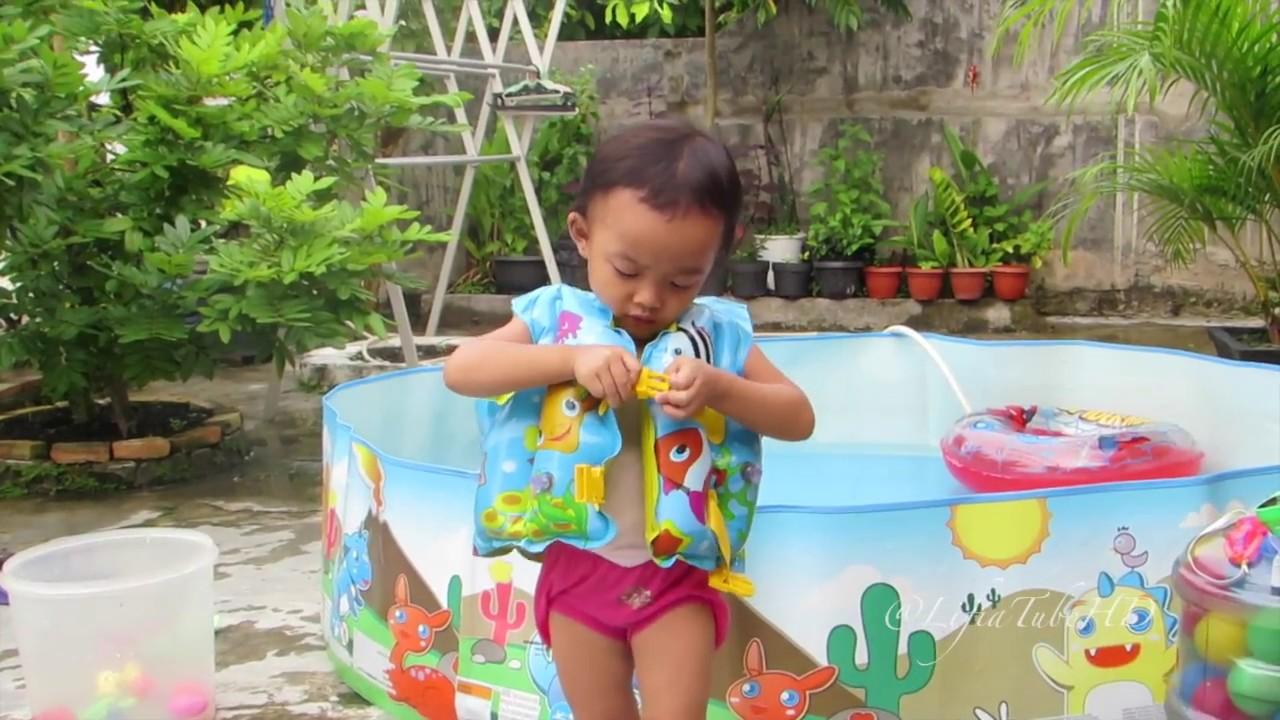 Kolam Renang Plastik Tanpa Pompa Cara Pasang Pelampung Berenang Anak