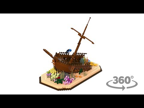 The Royal Fortune shipwreck diving expedition LEGO ideas project