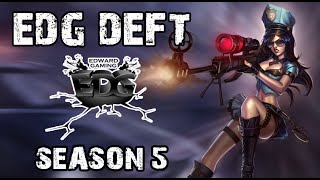 EDG Deft Caitlyn vs Sivir ADC Ranked Challenger Korea