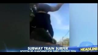 Teen Train-Surfs on Top of Boston Subway Car, Narrowly Avoids Bridge