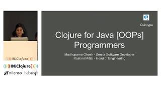 Clojure for Java (OOPS) programmers
