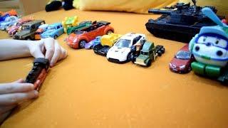 Мои машинки: полиция, экскаватор, погрузчик, мотоцикл. Cars: police, excavator, loader, motorcycle.
