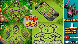 Clash Of Clans топ 55 Декоративных баз!