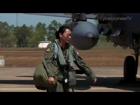 RSAF Female F-15 Fighter Pilot Major Nah Jin Ping Gearing Up at Exercise Pitch Black 2016