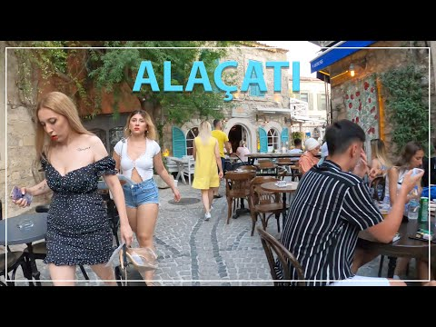Hacı Memiş Street in Alaçatı Çeşme İzmir Turkey