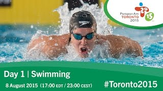 Day 1 | Swimming | Toronto 2015 Parapan American Games