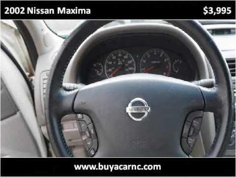 2002 Nissan Maxima Used Cars Greensboro NC - YouTube