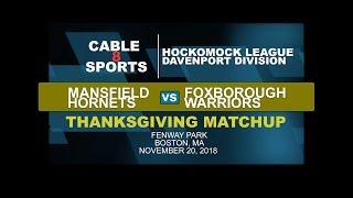 Thanksgiving Football at Fenway Park