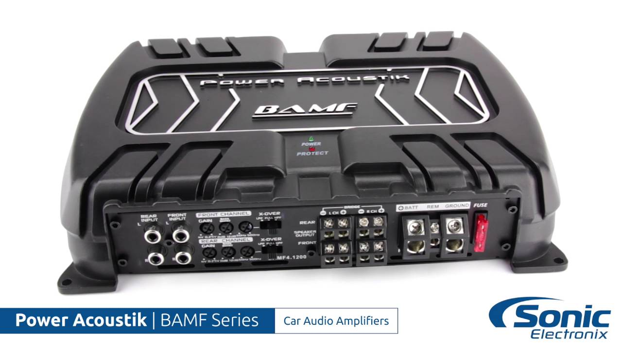 Power Acoustik Bamf Series Car Audio Amplifiers Product Overview Subwoofers At Sonic Electronix 2016 Release Date