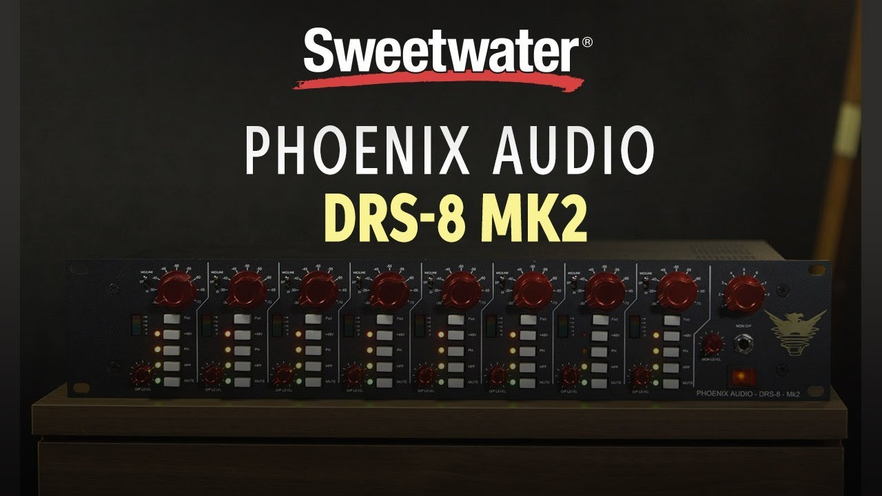 Phoenix Audio Drs 8 Mk2 Channel Mic Preamp Overview Youtube Microphone Preamplifier With Tlc251