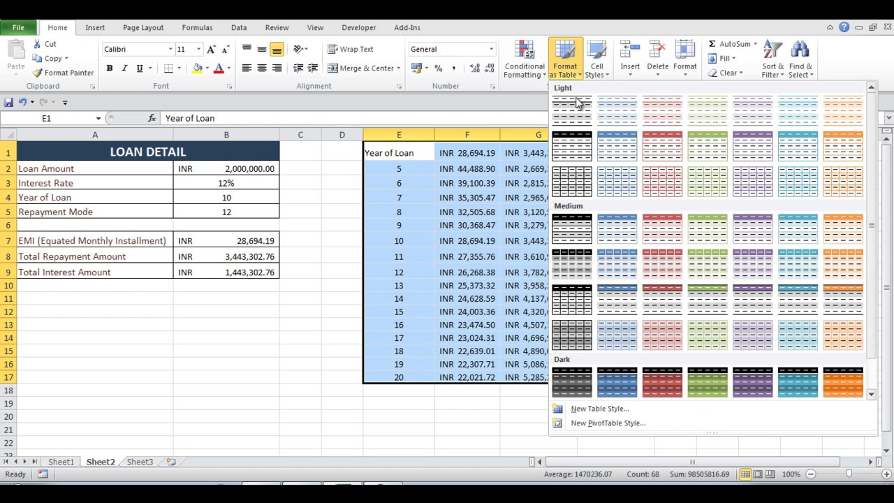 How to calculate emi – download excel emi calculator | naveen's blog.