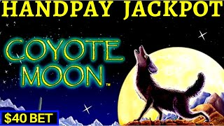 HIGH LIMIT ACTION! Coyote Moon Slot HANDPAY JACKPOT | Black Widow | Cleopatra 2 & Lighting Cash