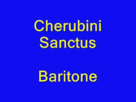 Cherubini Sanctus baritone