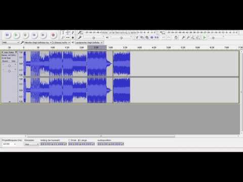 audacity musik zusammen schneiden