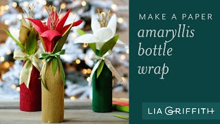 Crepe Amaryllis Bottle Gift Wrap