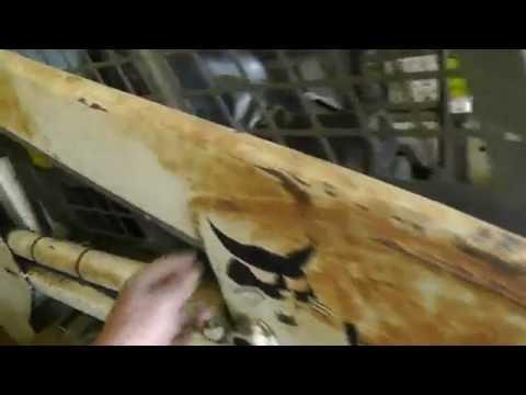 Spraying Some Napa MetalPro Equipment Paint On The Bobcat