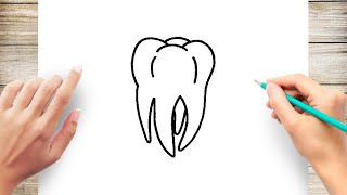 How to Draw a Tooth Step by Step for Kids