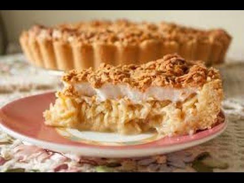 Песочный торт с яблоками рецепт с фото
